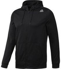 sweater reebok sport fitness workout ready full zip