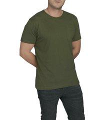 camiseta militar luck & load cuello redondo con bolsillo