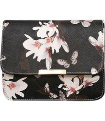 women floral print messenger bags fashion vintage small shell pu leather handbag