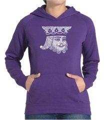 la pop art women's word art hooded sweatshirt - king of spades