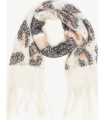 women's over leopard and stripe scarf ivory from sole society