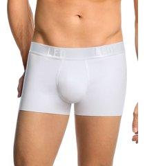 bóxer brief ajustado en algodón - masculino interior blanco leonisa
