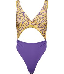 twist front swimsuit baddräkt badkläder multi/mönstrad ivyrevel