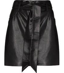 nanushka faux-leather mini skirt - black
