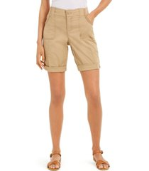 style & co roll-tab bermuda shorts, created for macy's
