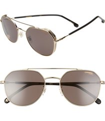 carrera eyewear 56mm polarized aviator sunglasses in gold at nordstrom