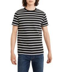 men's madewell allday stripe crewneck t-shirt, size small - black
