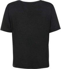 t-shirt met vetersluiting