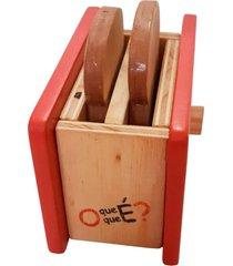 torradeira de madeira - o que ã© o que ã© - mundo cereja vermelho - vermelho - menina - dafiti