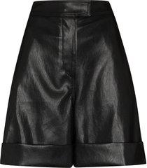 lvir knee-length faux leather shorts - black
