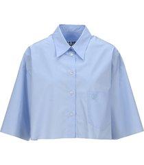 mm6 cropped cotton shirt