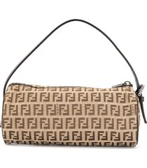 fendi pre-owned mini zucchino barrel tote bag - brown