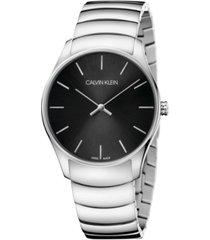 calvin klein unisex classic too stainless steel bracelet watch 38mm