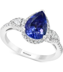 effy tanzanite (1-3/4 ct.t.w.) & diamond (1/3 ct. t.w.) ring in 14k white gold