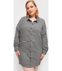 vestido missguided oversized dip back shirt dres negro - calce oversize