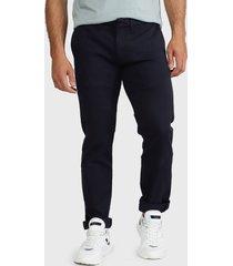 pantalón pepe jeans chino james knit azul - calce slim fit