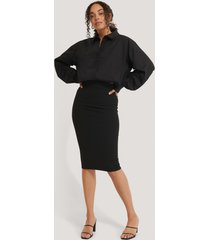 na-kd highwaist pencil skirt - black