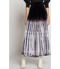 proenza schouler tie dye velvet skirt ecru/lavender/black/neutrals xs