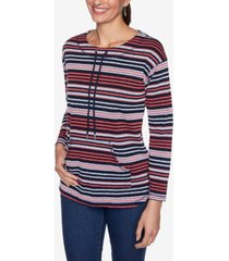 ruby rd. plus sizes women's pebbled stripe pullover