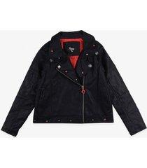 chaqueta cuero negro  pillin