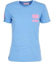 chiara ferragni light blue eyelight t-shirt