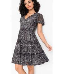 jersey jurk met mesh