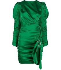 for love and lemons isabeli draped mini dress - green