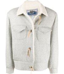 a.n.g.e.l.o. vintage cult 1980s cutaway collar jacket - grey