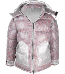 mcq swallow transparent puffer jacket - white