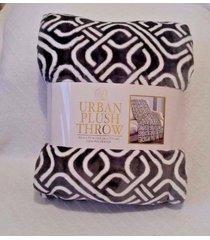 life comfort urban plush throw blanket 60x70 gray chain warm soft luxurious