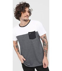 camiseta yachtsman bolso branca/cinza