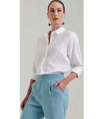 camisa 100% linho lapônia off white g