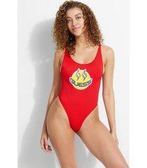 jednoczęściowy kostium kąpielowy z logo z kolekcji j balvin