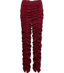 vita pants byxa med raka ben röd hosbjerg