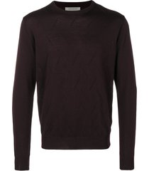 corneliani slim-fit knitted sweater - purple