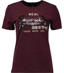 t-shirt sequin bordeaux