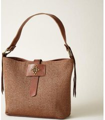 sundance catalog women's straw louisiana tote in brown