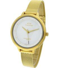 reloj dorado montreal acero tejido
