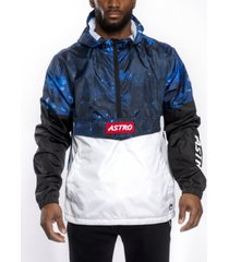 southpole men's astroboy premium colorblock and all over print anorak jacket