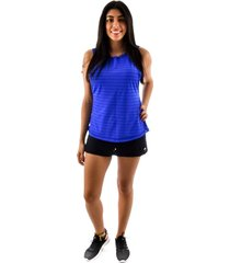 regata rich young fitness azul + shorts saia fitness preto