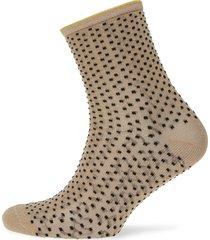 dina small dots lingerie hosiery socks beige becksöndergaard