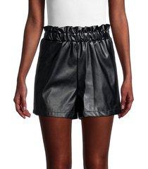 bcbgeneration women's faux leather shorts - black - size l