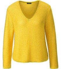 trui lange mouwen en v-hals van basler geel