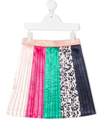 billieblush contrast panel pleated skirt - pink