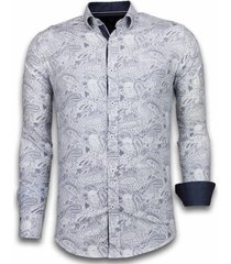 overhemd lange mouw tony backer blouse allover flower pattern