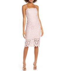women's bardot lina lace cocktail dress, size x-large - pink
