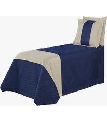 cobre leito suíça solteiro colcha infantil 03 peças azul