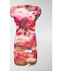 msgm floral ruched dress