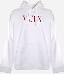 valentino cotton sweatshirt with contrasting vltn print