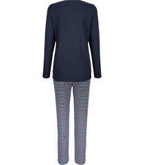 pyjamas blue moon marinblå::vit::röd